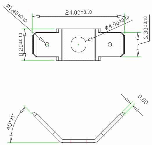Single Terminal Strip Dimensions