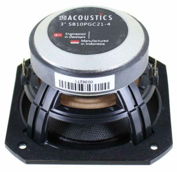 """Front View SB Acoustics SB10PGC21-4 3"""" Wide Range"""